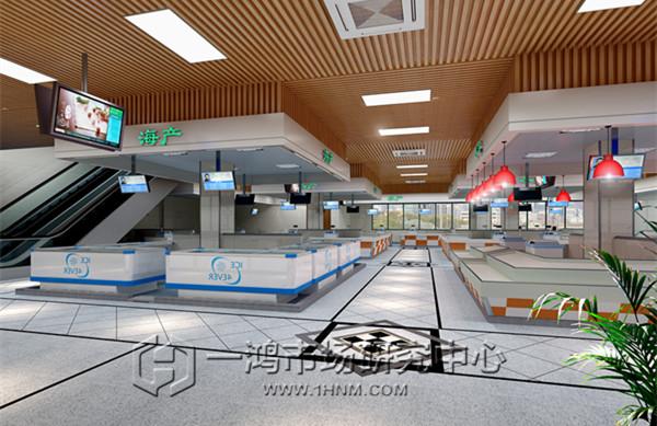 杭州农贸市场摊位效果图